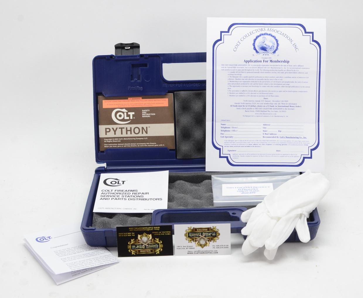 colt python 2003 case
