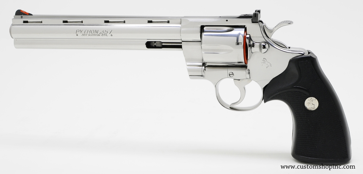 colt python  357 mag  8 inch bright stainless finish  like