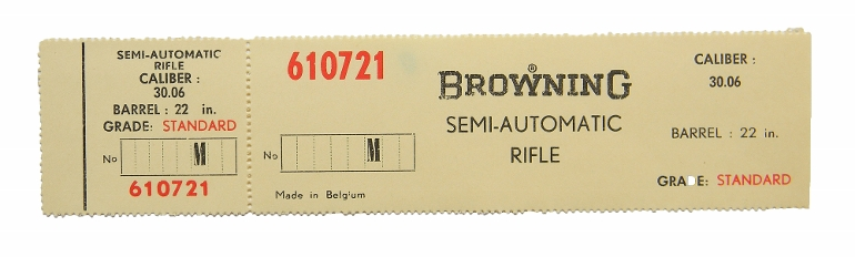 browning belgium bar 30 06 standard grade box label new original