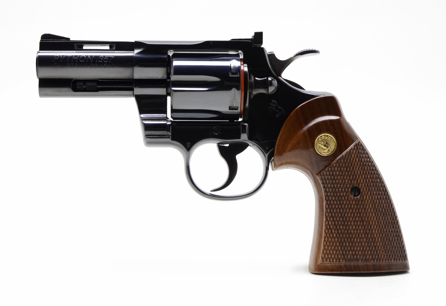 Combat Python colt python 357 mag. 3 inch. like new in factory box. california