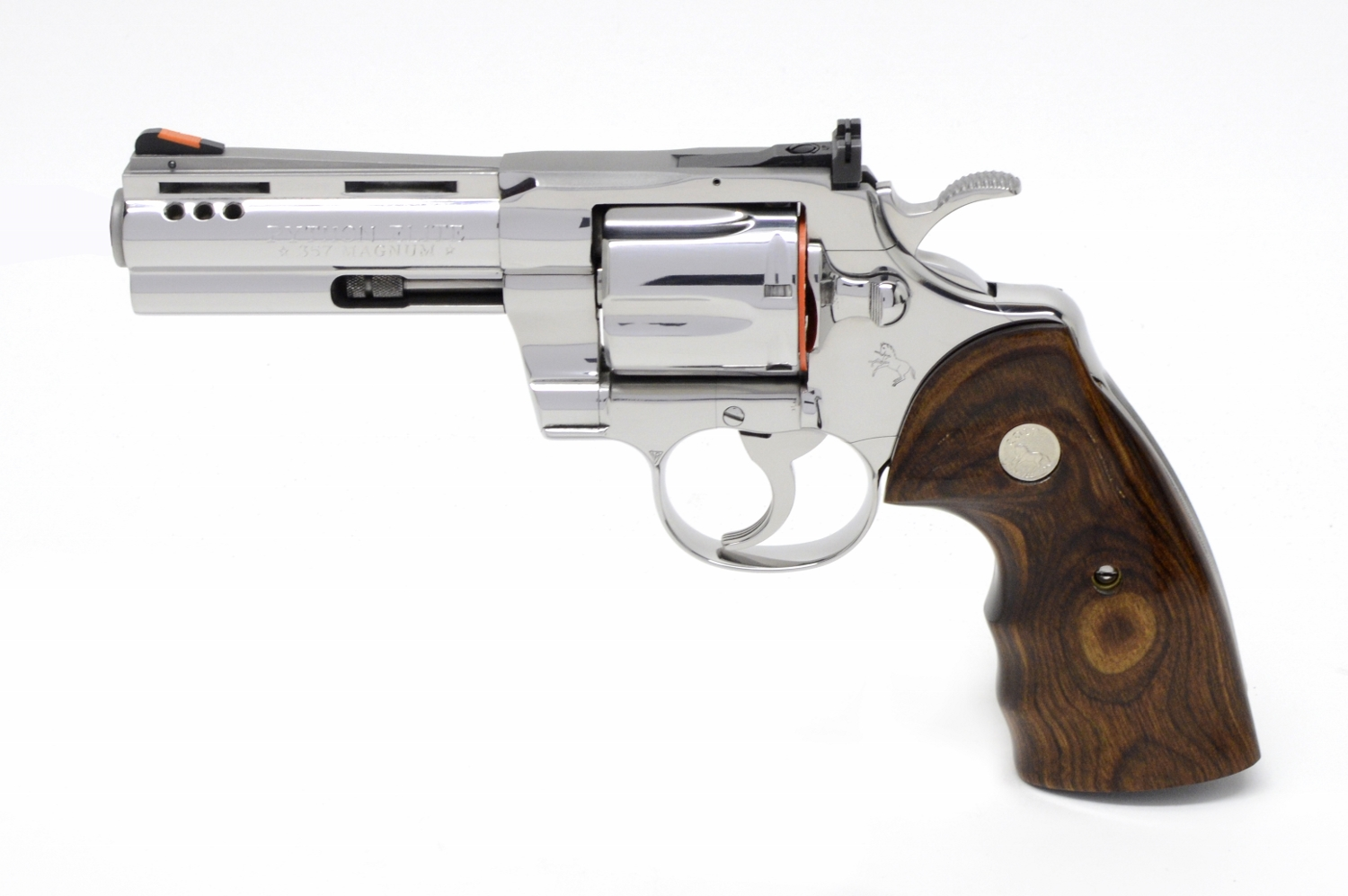 Colt Python 4 Inch Bright Stainless  Factory Ported ELITE  Not For