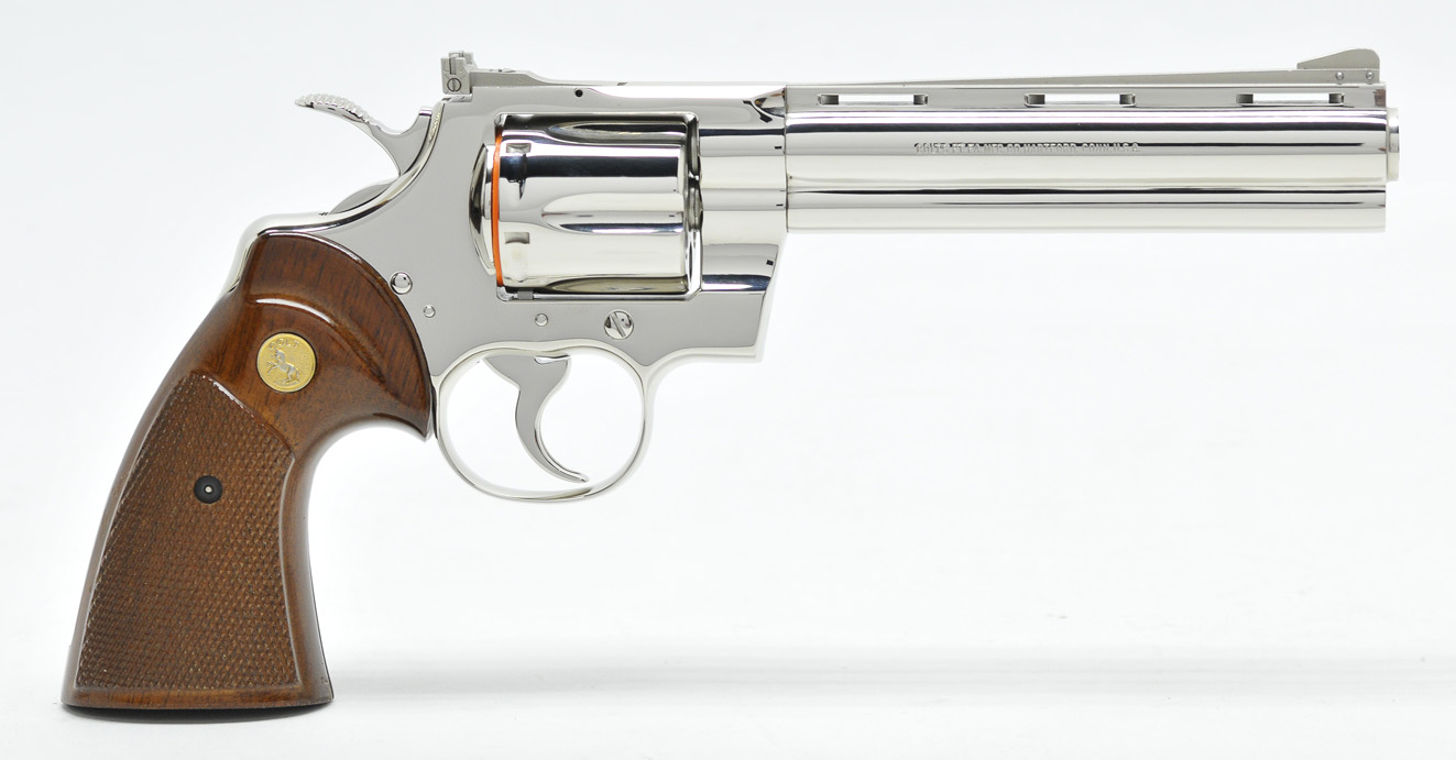 custom shop inc colt python nickel