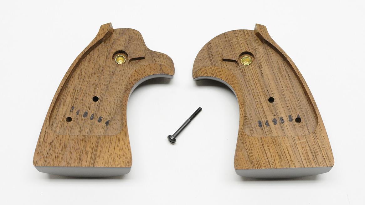 Colt Diamondback Wood Presentation Grips, Gold Medallions, New - Custom Shop