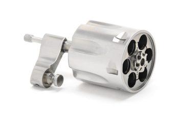 Colt V-Frame Cylinder Assembly  Factory Satin Stainless Finish  For  Anaconda, King Cobra
