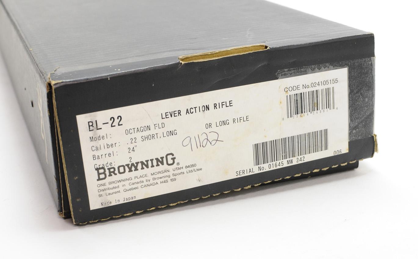 Browning BL-22 FLD, Grade II Octagon  22LR  Like New In Box