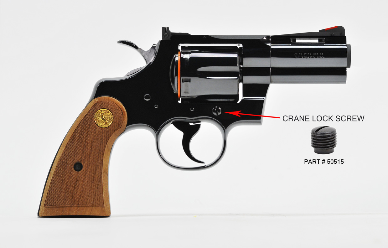 Colt Python And I-Frame Revolver Side Plate And Crane 3 Screw Replacement  Set