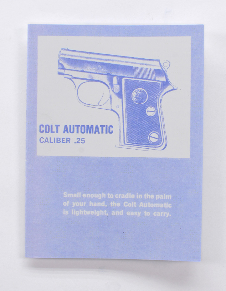 colt 25 auto owners pamphlet