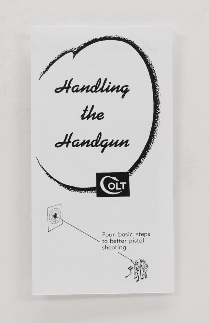 colt handling the handgun