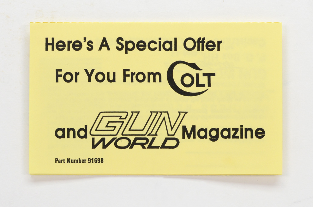 Special Offer From Colt And Gun World