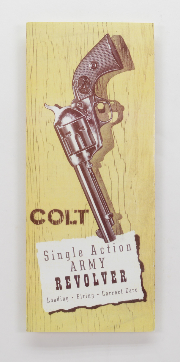 colt single action army manual