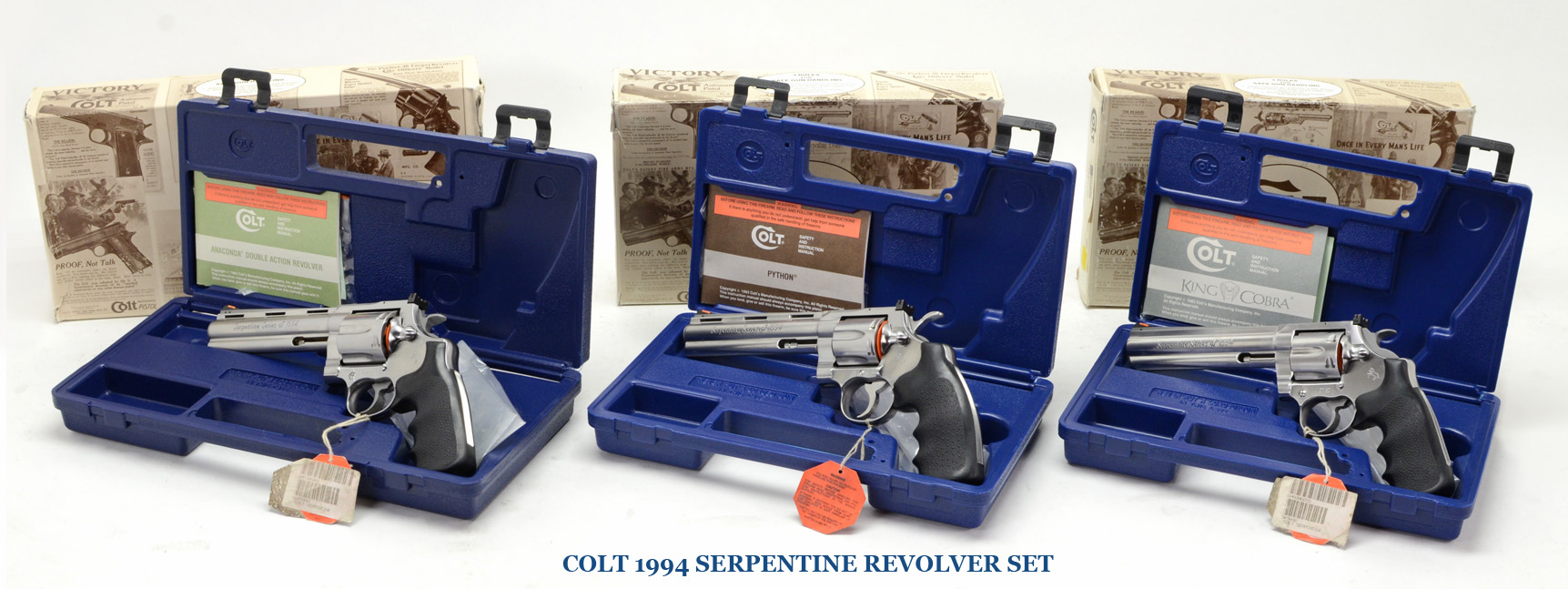 Colt 1994 Serpentine Revolver Set