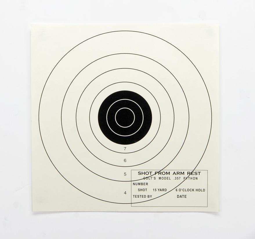 colt python t-10 test target