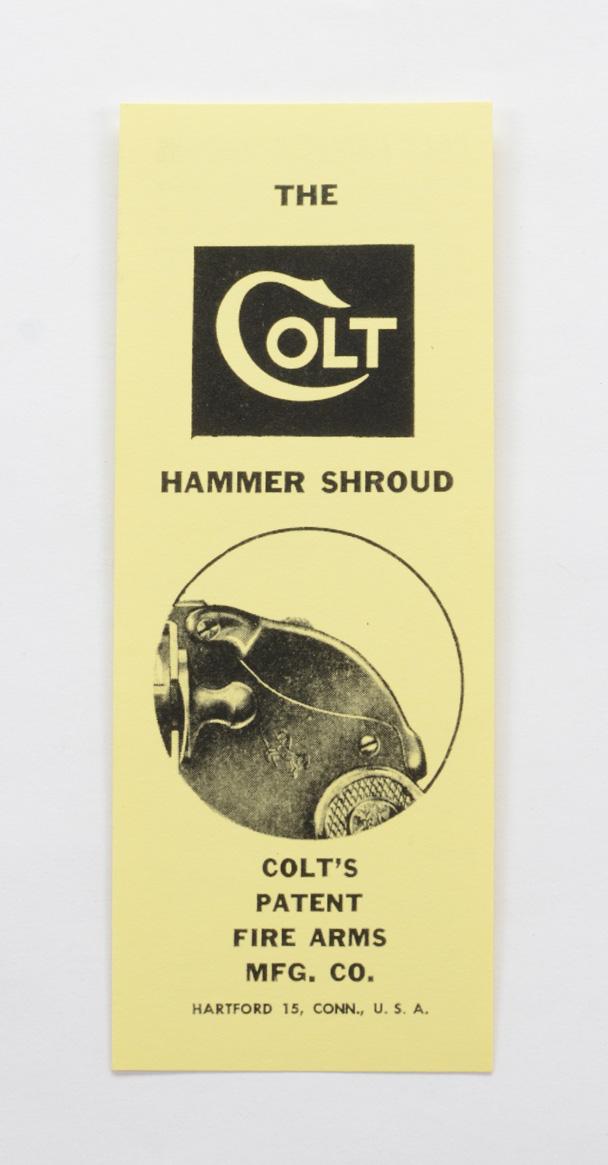 Colt Hammer Shroud Card