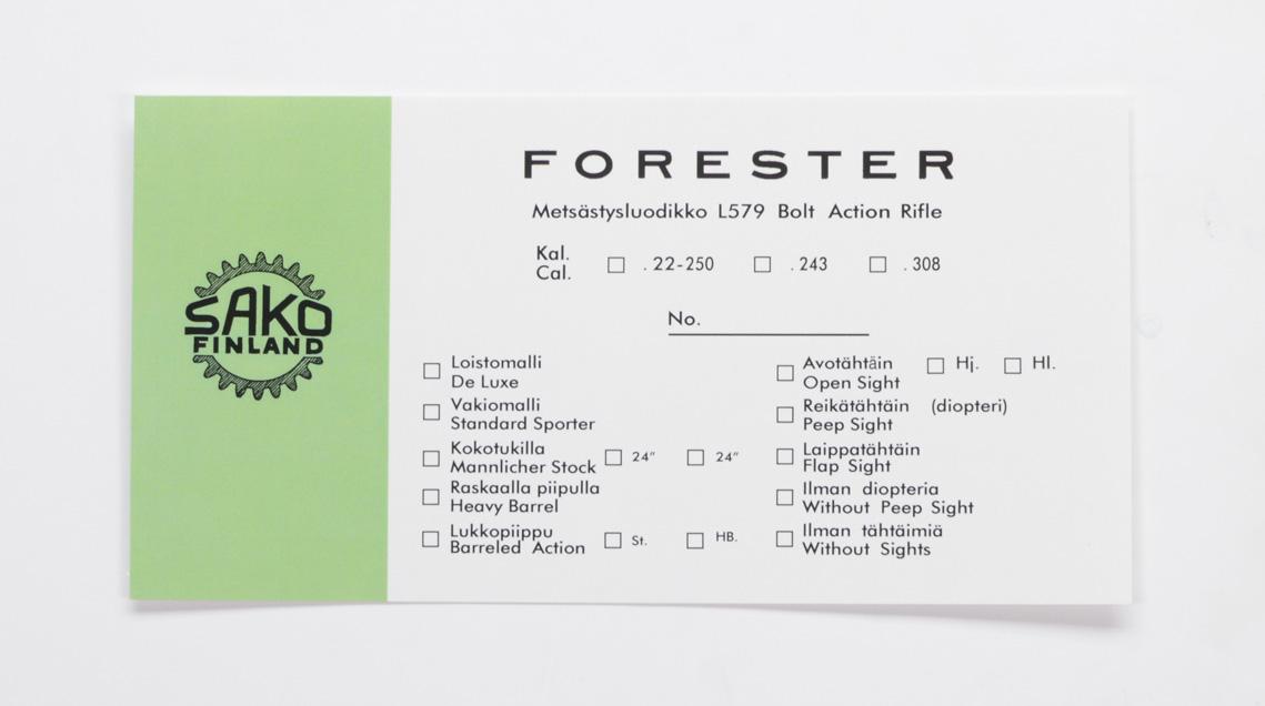 Sako Forester L579 Pre-Import Box Label