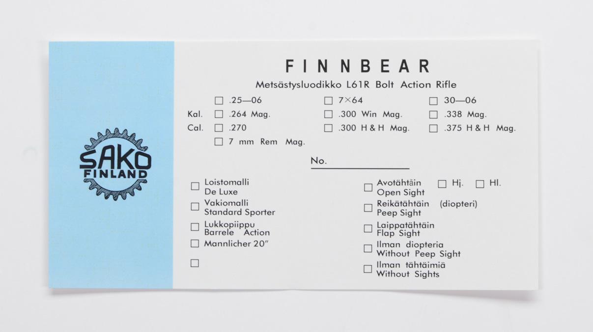 Sako Finnbear L61R Pre-Import Box Label