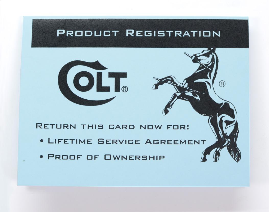 Colt Python 1990 Paperwork Package
