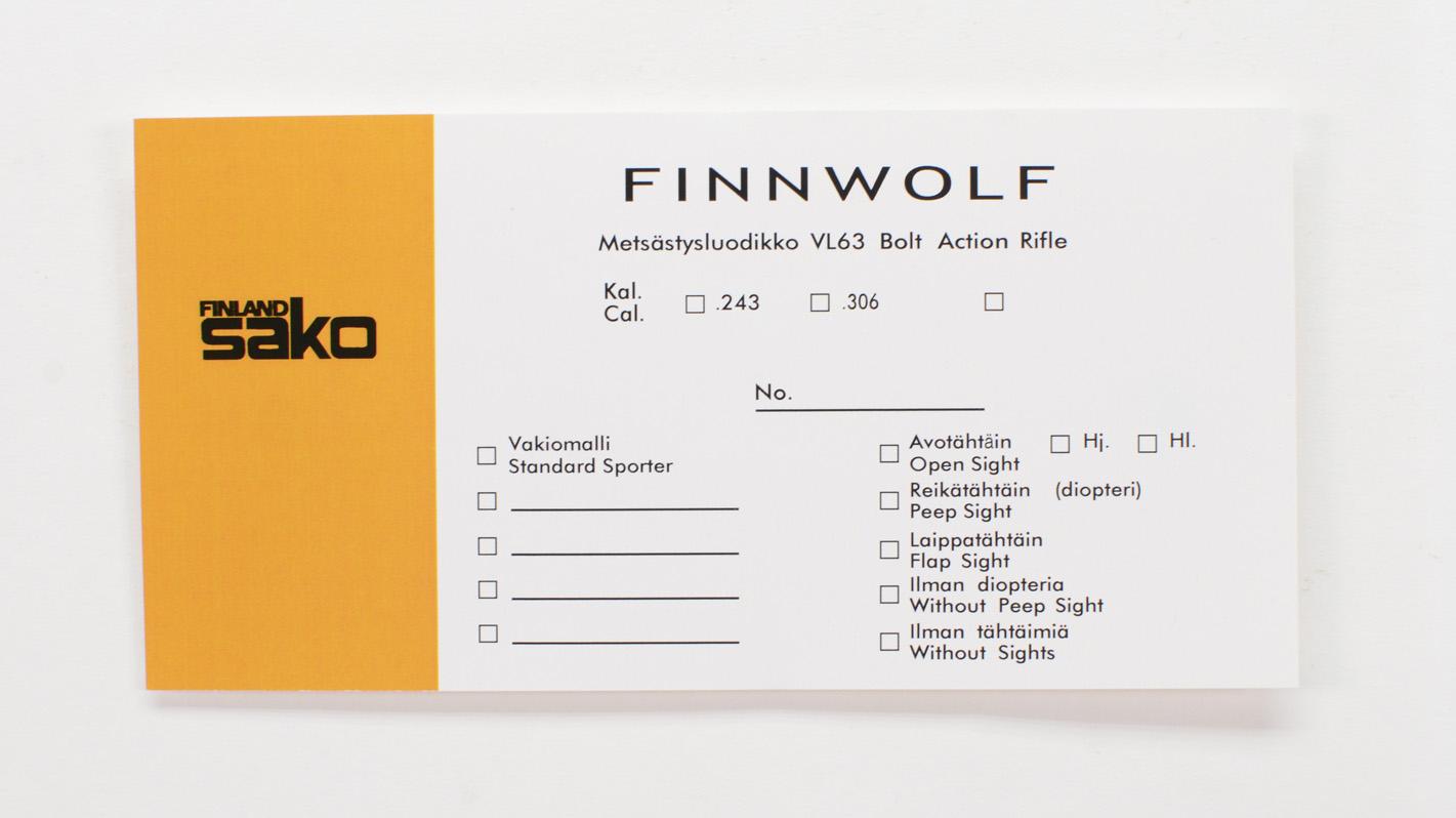 Sako Finnwolf VL63 Box Label