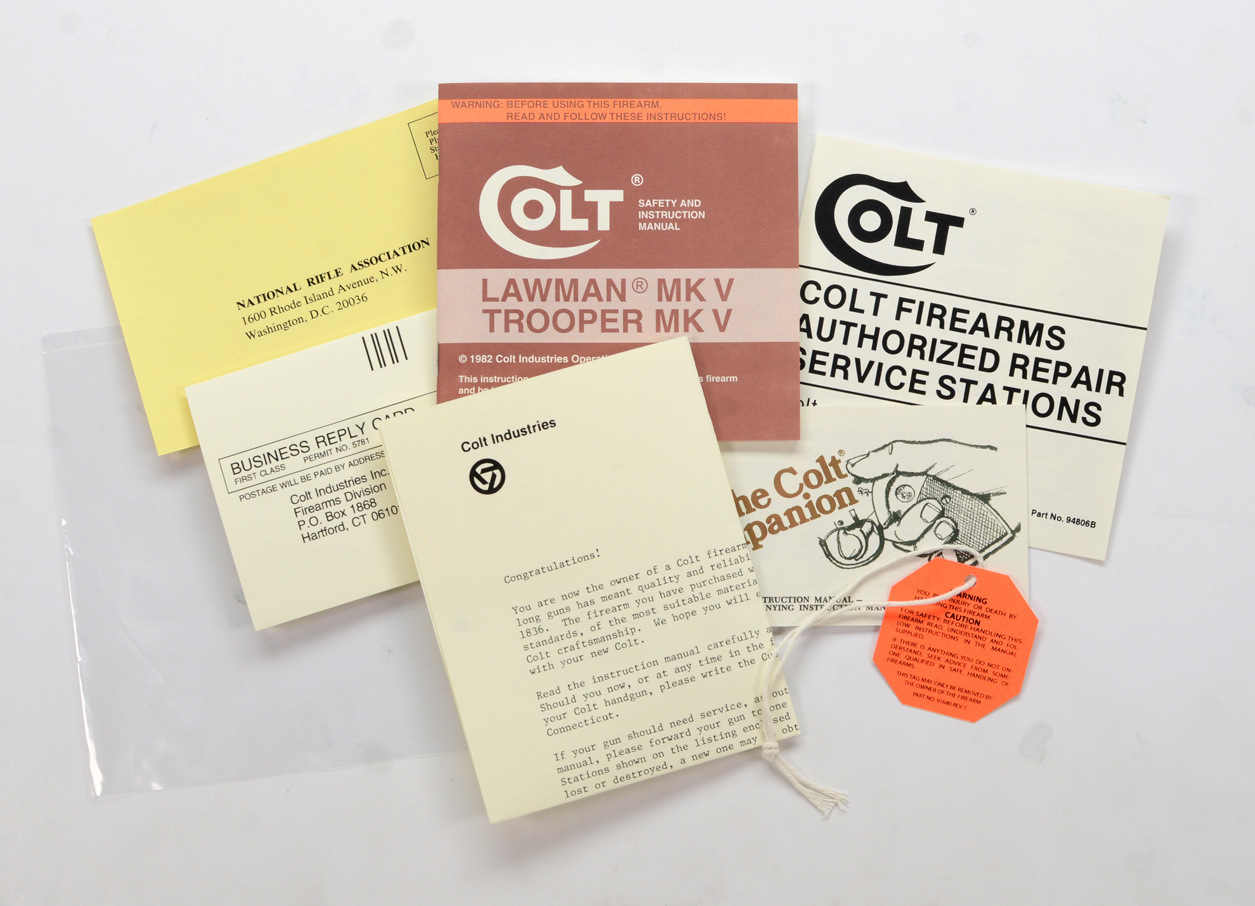 1982 to 1985 Colt Whitetailer Packet