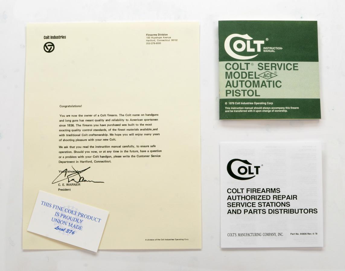 Colt Service Model Ace 1978