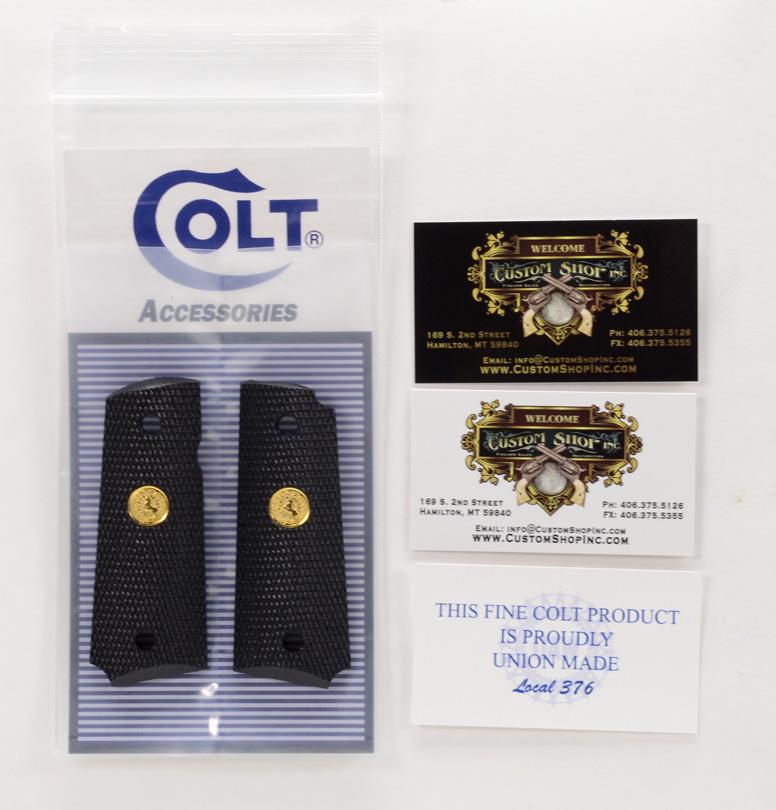 Colt 1911 Officer's Grip Gold
